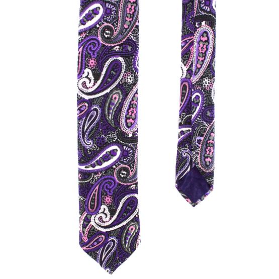 Cravata Paisley Violet