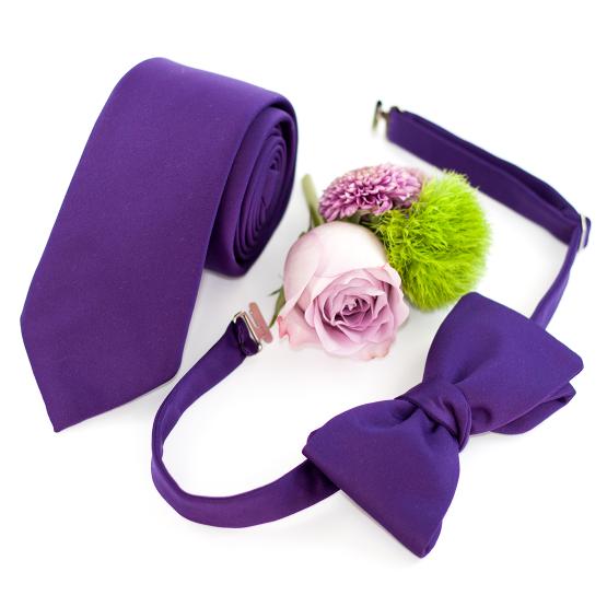 Papion Self-Tie Purple
